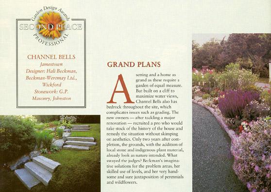 1998 Channel Bells Award