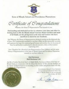 RI Veterans Home Citation